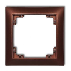 Karlik Deco 9DRSO-1 - Ramka pojedyncza DECO Soft - Brązowy Metalik - Podgląd zdjęcia producenta