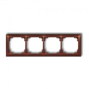 Karlik Deco 9DRSO-4 - Ramka czterokrotna DECO Soft - Brązowy Metalik - Podgląd zdjęcia producenta