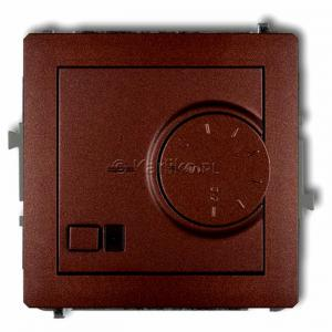 Karlik Deco 9DRT-1 - Regulator temperatury z czujnikiem zewnętrznym 3200W (termostat), sonda w zestawie, zakres 5-40st. - Brązowy Metalik - Podgląd zdjęcia producenta