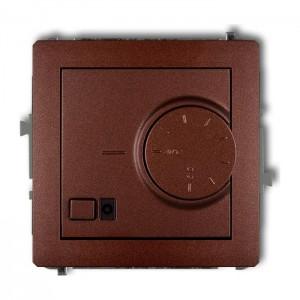 Karlik Deco 9DRT-2 - Regulator temperatury z czujnikiem wewnętrznym 3200W (termostat), zakres 5-40st. - Brązowy Metalik - Podgląd zdjęcia producenta