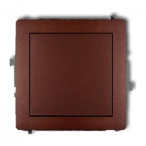 Karlik Deco 9DWP-4.1 - Przycisk zwierny 10A, zaciski śrubowe - Brązowy Metalik - Podgląd zdjęcia producenta