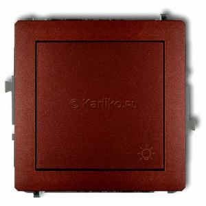 Karlik Deco 9DWP-5 - Przycisk zwierny z piktogramem Światła 10A, zaciski śrubowe - Brązowy Metalik - Podgląd zdjęcia producenta