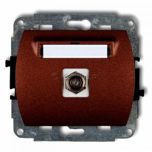 Karlik Trend 9GF-1 - Gniazdo antenowe SAT pojedyncze typu F, gniazdo niklowane - Brązowy Metalik - Podgląd zdjęcia producenta