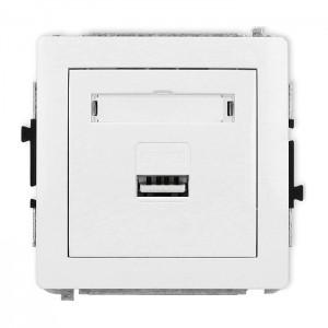 Karlik Deco DCUSB-1 - Ładowarka USB, napięcie 5V, prąd 1A - Biały - Podgląd zdjęcia producenta