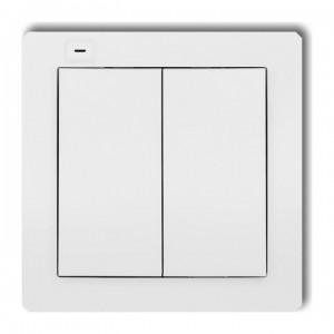 Karlik Deco DEF-2 - Nadajnik 2-klawiszowy, 4-kanałowy dla systemu Zamel Exta Free - Biały - Podgląd zdjęcia producenta