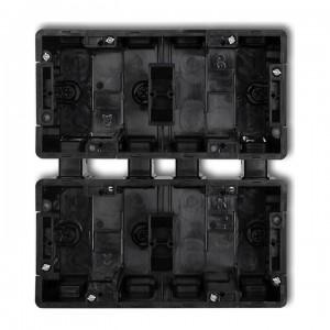 Karlik Deco DPM-2x2 - Puszka czterokrotna podtynkowa - 2x Poziom + 2x Pion - Czarny - Podgląd zdjęcia producenta
