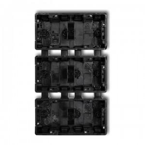 Karlik Deco DPM-2x3 - Puszka sześciokrotna podtynkowa - 2x Poziom + 3x Pion - Czarny - Podgląd zdjęcia producenta