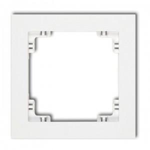 Karlik Deco DR-1 - Ramka pojedyncza DECO - Biały - Podgląd zdjęcia producenta