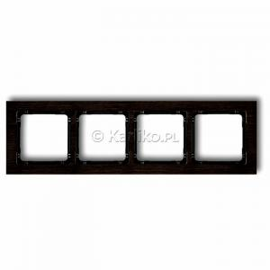 Karlik Deco DRD-4G - Ramka czterokrotna DECO Efekt Drewna - Drewno Efekt Wenge - Podgląd zdjęcia producenta
