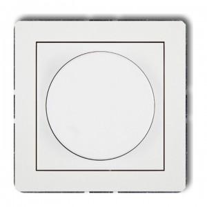 Karlik Deco DRO-1 - Ściemniacz przyciskowo-obrotowy do oświetlenia żarowego i halogenowego 40-400W - Biały - Podgląd zdjęcia producenta