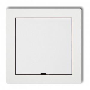 Karlik Deco DRPZ - Zaślepka ramki, wymagana kostka KM w przypadku ramki pojedynczej i/lub miejsc skrajnych ramki - Biały - Podgląd zdjęcia producenta