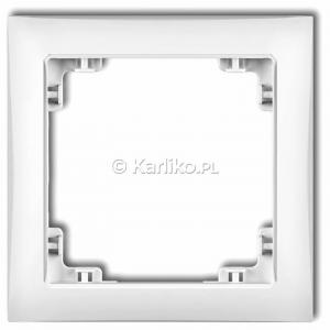 Karlik Deco DRSO-1 - Ramka pojedyncza DECO Soft - Biały - Podgląd zdjęcia producenta