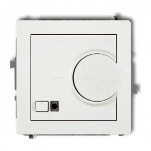 Karlik Deco DRT-2 - Regulator temperatury z czujnikiem wewnętrznym 3200W (termostat), zakres 5-40st. - Biały - Podgląd zdjęcia producenta