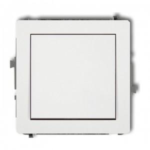 Karlik Deco DWP-1 - Łącznik pojedynczy 10A, zaciski śrubowe - Biały - Podgląd zdjęcia producenta