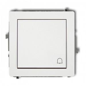 Karlik Deco DWP-4 - Przycisk zwierny dzwonek 10A, zaciski śrubowe - Biały - Podgląd zdjęcia producenta