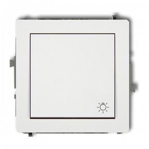 Karlik Deco DWP-5 - Przycisk zwierny z piktogramem Światła 10A, zaciski śrubowe - Biały - Podgląd zdjęcia producenta