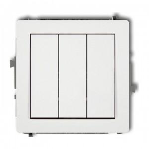 Karlik Deco DWP-7 - Łącznik potrójny 10A, zaciski śrubowe - Biały - Podgląd zdjęcia producenta