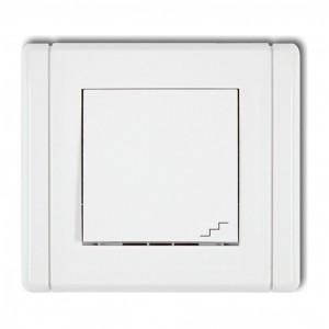 Karlik Flexi FWP-3 - Łącznik schodowy 10A, zaciski śrubowe - Biały - Podgląd zdjęcia producenta