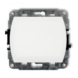 Karlik Trend WP-1 - Łącznik pojedynczy 10A, zaciski śrubowe - Biały - Podgląd zdjęcia producenta
